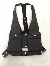 NEW Punk Rave photographer Harness Bag Faux Leather Gothic  Single vest Black