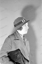 Negativ-Portrait-Frau-Hut-Cute-German-Woman-Girl-Lady-Hat-1930er Jahre-1930s-12