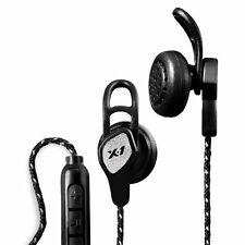 X-1 Audio H2O Momentum Sports Gym Headphones Earphones for Runners- Black