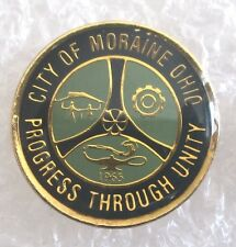 City of Moraine, Ohio Travel Souvenir Collector Pin-Progress Through Unity
