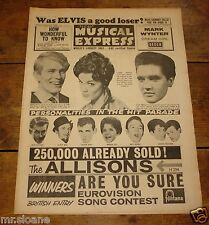 NME 3 MARCH 1961 CONNIE FRANCIS ADAM FAITH MIKE PRESTON NEWLEY MONRO HURRICANES