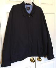NWOT New Men's Jos. A Bank XXL 2XL Navy Golf Microfiber Windbreaker Coat Jacket