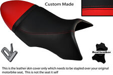 BLACK & BRIGHT RED CUSTOM FITS BUELL XB 12 SS LIGHTNING LONG DUAL SEAT COVER