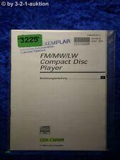 Sony Bedienungsanleitung CDX C5850R CD Player (#3225)