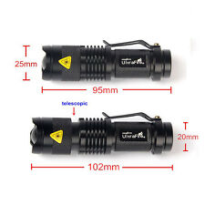 UltraFire 7w 6000lm Mini Cree T6 Led Flashlight Torch Adjustable Focus Zoom Lamp