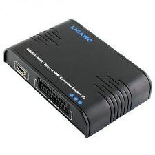 Ligawo ® HDMI + Scart zu HDMI Konverter skaliert auf 720p/ 1080p + 3D Emulator