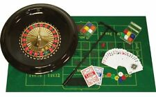 "16"" Inch Roulette Set with Wheel Chips Balls Rake Stick Cards Felt Layout NEW"