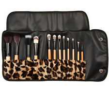 Professional Makeup 12 PCs Brush Cosmetic Make Up Set With Case Bag Kit UK