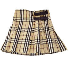 Authentic BURBERRY Logos Tartan Skirt #8 100% Wool Scotland Vintage 08F996