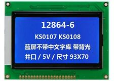 128x64 5v Dot Matrix COG Graphic LCD Module Display LCM w/KS0107+KS0108