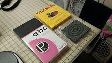 NEW Upper Case Alphabet Rubber Stamps Set/Foam Rubber Frame/Pebbles Lower Case