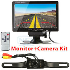 "7"" TFT LCD Car Rear View Backup Monitor +Reverse Parking Night Vision Camera Kit"