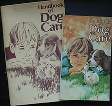 1971 & 1976 RALSTON PURINA DOG CARE BOOKLETS (2) W/ PRODUCT PICTURES, COUPONS +