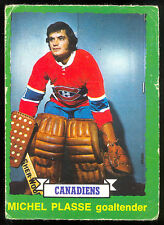 1973-74 OPC O PEE CHEE #252 MICHEL PLASSE RC VG MONTREAL CANADIENS DARK BACK