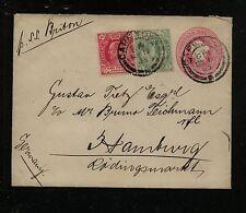 Cape of Good Hope uprated postal envelope to Germany  1903        KEL0418