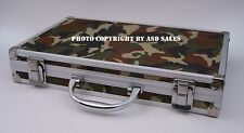 Universal Gun Cleaning Kit Aluminum Camouflage Case W/BRASS Rods-Ships from USA