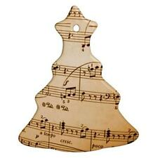 Music Notes Porcelain Christmas Tree Shaped Ornament