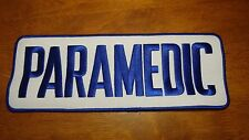PARAMEDIC RESCUE EMT AMBULANCE FIRE FIGHTER  BACK PATCH 10 1/2 X4 INCHES  BX XXX
