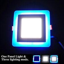 24w LED Panel Light Recessed Ceiling Lamp 18w White 6w Blue 3mode Mood Lighting