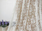 """Lace Fabric Ivory Stretchy Rose Floral Soft Wedding Fabric 59"""" width 1 yard"""
