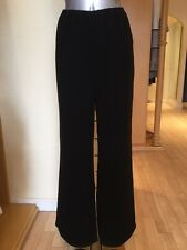 Michel Ambers Wide Leg Trousers Size 12 BNWT Black RRP £143 Now £49