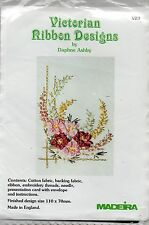 MADEIRA VICTORIAN RIBBEN DESIGNS EMBROIDERY KIT =Flower Display=