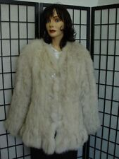 REFURBISHED KNITTED NORWEGIAN FOX FUR JACKET COAT WOMEN WOMAN SIZE 10-12 MEDIUM