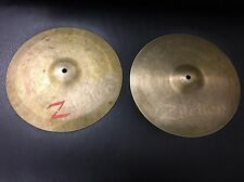 """Vintage 12"""" zilciler / istanbul Hi- Hats- Very Rare!  FREE US SHIPPING!"""