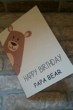A5 Happy birthday Papa Bear card  with envelope