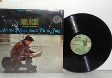 PHIL OCHS All The News That's Fit To Sing LP Vinyl Stereo Butterfly Labels VG+