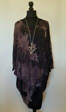 "NEW LaGeNLooK ""ARTIST"" STYLE QUIRKY splash dye batwing PIN TUCK TUNIC DRESS12-20"