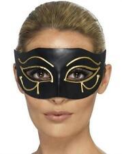 Black Egyptian Eye of Horus Gold Design Eye Mask