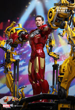 Hot Toys 1/6 IRON MAN 2 MMS160 Suit-UP Gantry with MK4 Mark IV Set Figure EMS US