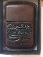 ZIPPO HARLEY DAVIDSON LEATHER ENCASED LIGHTER 1990s