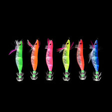 10cm Glow in Dark Luminous Fishing Lures Baits Squid Egi Shrimp jigs Hooks JBC