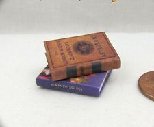 Miniature SCIENCE BOOKS (2) Dollhouse 1:12 Scale Readable Illustrated Books