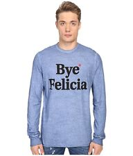 NEW $380 DSQUARED D2 ITALIAN MADE BLUE LINEN BLEND BYE FELICIA T-SHIRT SIZE M