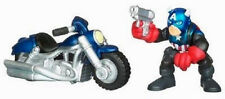 Marvel Super Hero Squad_CAPTAIN AMERICA (Bucky) figure and Motorcycle 2 Pack_MIP