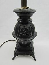 Pot Belly Stove Lamp Vintage Rare L & L WMC