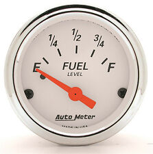 AUTOMETER Arctic White 0-90 Ohms ELECTRIC GM CHEVY FUEL LEVEL GAUGE 2-1/16""