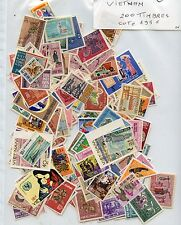 STAMP TIMBRE COLONIES FRANCAISES  LOT VIETNAM 200 TIMBRES COTE 195 €