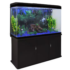 Peces Tanque Acuario complete set up Tropical Marine 4ft 300 litros negro del gabinete
