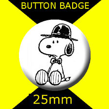 CHARLIE BROWN SNOPPY -  CULT TV  2 -BUTTON BADGE 25mm
