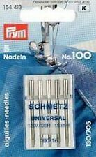 PRYM 5 Sewing machine needles with Flat piston 100 130/705 H Top quality