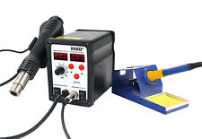 New 898D SMD Hot Air Iron Gun Rework Soldering Station Welder 11 Tips
