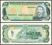 DOMINICAN REPUBLIC 10 Pesos oro 1990 Pick 132  SC / UNC