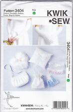 Kwik Sew 3404 Sewing Pattern Wedding Gloves, Garters, Purse, Ring Bearer Pillow