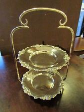 Silver Plated Two Tier Small Cakestand c.1920