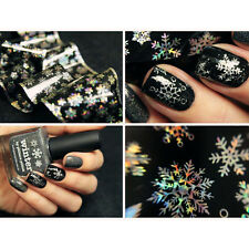 Holographic Nail Art Christmas Snowflake Foils Transfer Sticker Paper Decoration