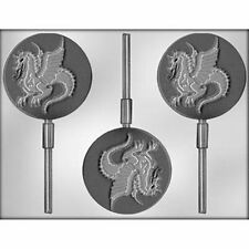 "Dragon 3"" Lollypop Sucker Chocolate Candy Mold  Knight Kingdom Medieval Times"